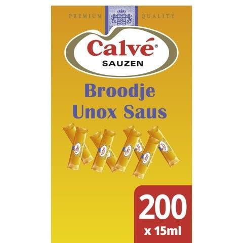Calvé Broodje Unox Saus 200x15ml -