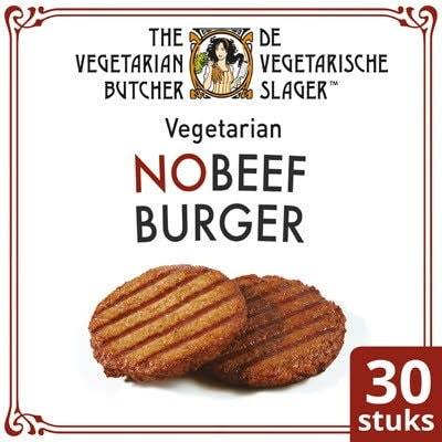 De Vegetarische Slager NoBeef Vegetarische Hamburger 30x80g -