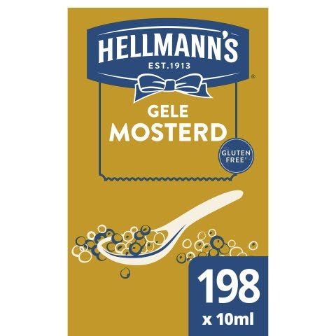 Hellmann's Gele Mosterd portieverpakking 10 ml -