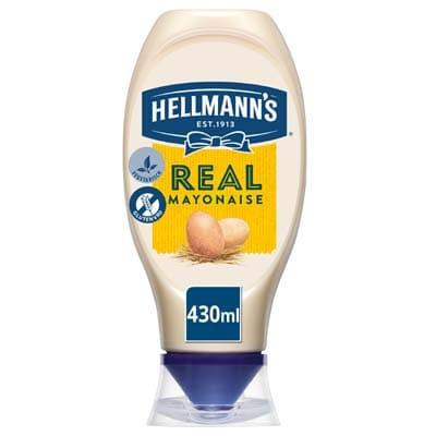 Hellmann's Real Mayonaise 430ml - Met Hellmann's op tafel weten ze dat je er verstand van hebt.