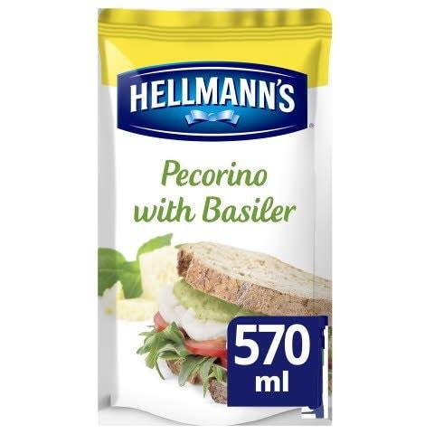 Hellmann's Sandwich Saus Pecorino met Basilicum 570ml -