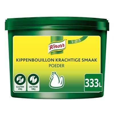 Knorr 1-2-3 Kippenbouillon krachtige smaak Poeder opbrengst 333L -