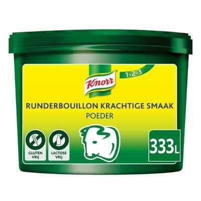 Knorr 1-2-3 Runderbouillon krachtige smaak Poeder opbrengst 333L -