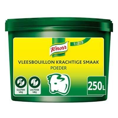 Knorr 1-2-3 Vleesbouillon krachtige smaak Poeder opbrengst 250L -