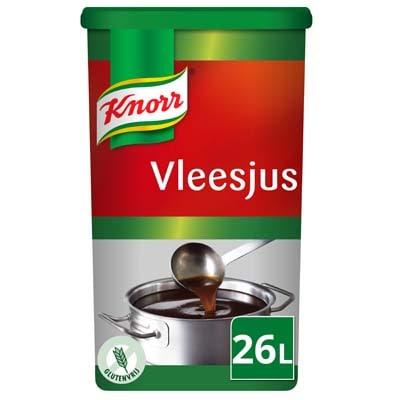 Knorr Vleesjus Poeder opbrengst 26L - Knorr Vleesjus heeft een intense vleessmaak en is glutenvrij