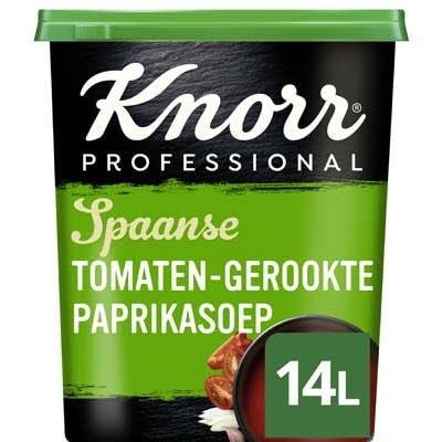 Knorr Spaanse Tomaten-Gerookte Paprikasoep Poeder opbrengst 14L -