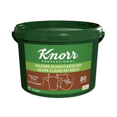 Knorr Voordeel Heldere Rundvleesssoep Poeder opbrengst 80L -