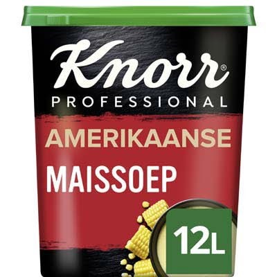 Knorr Wereld Amerikaanse Maïssoep Poeder opbrengst 12L -