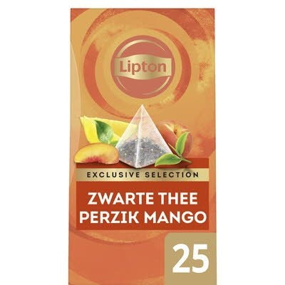 Lipton Exclusive Selection Thee Perzik Mango 25 zakjes -