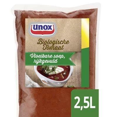 Unox Vloeibare Biologische Tomatensoep 2,5L -