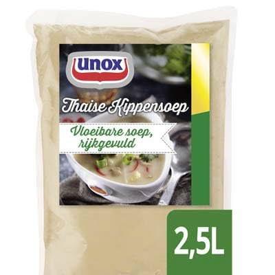 Unox Vloeibare Thaise Kippensoep 2,5L -