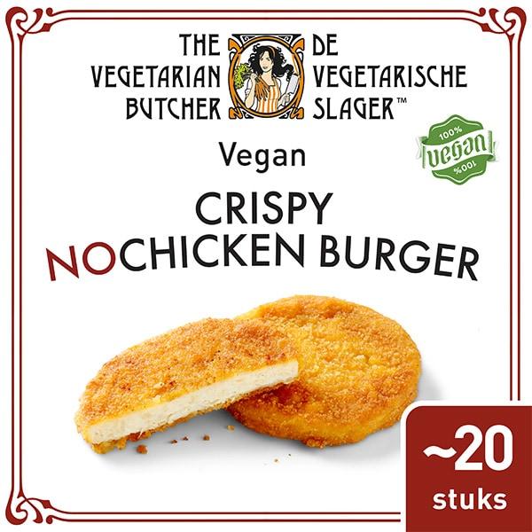 De Vegetarische Slager NoChicken Veganistische Krokante Kipburger 20x90g