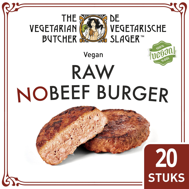De Vegetarische Slager Raw NoBeef Veganistische Burger 20x113 g
